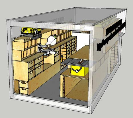 Ron Paulks Super Mobile Woodshop Is Complete And Hes Posted The Sketchup Plans For Free Download