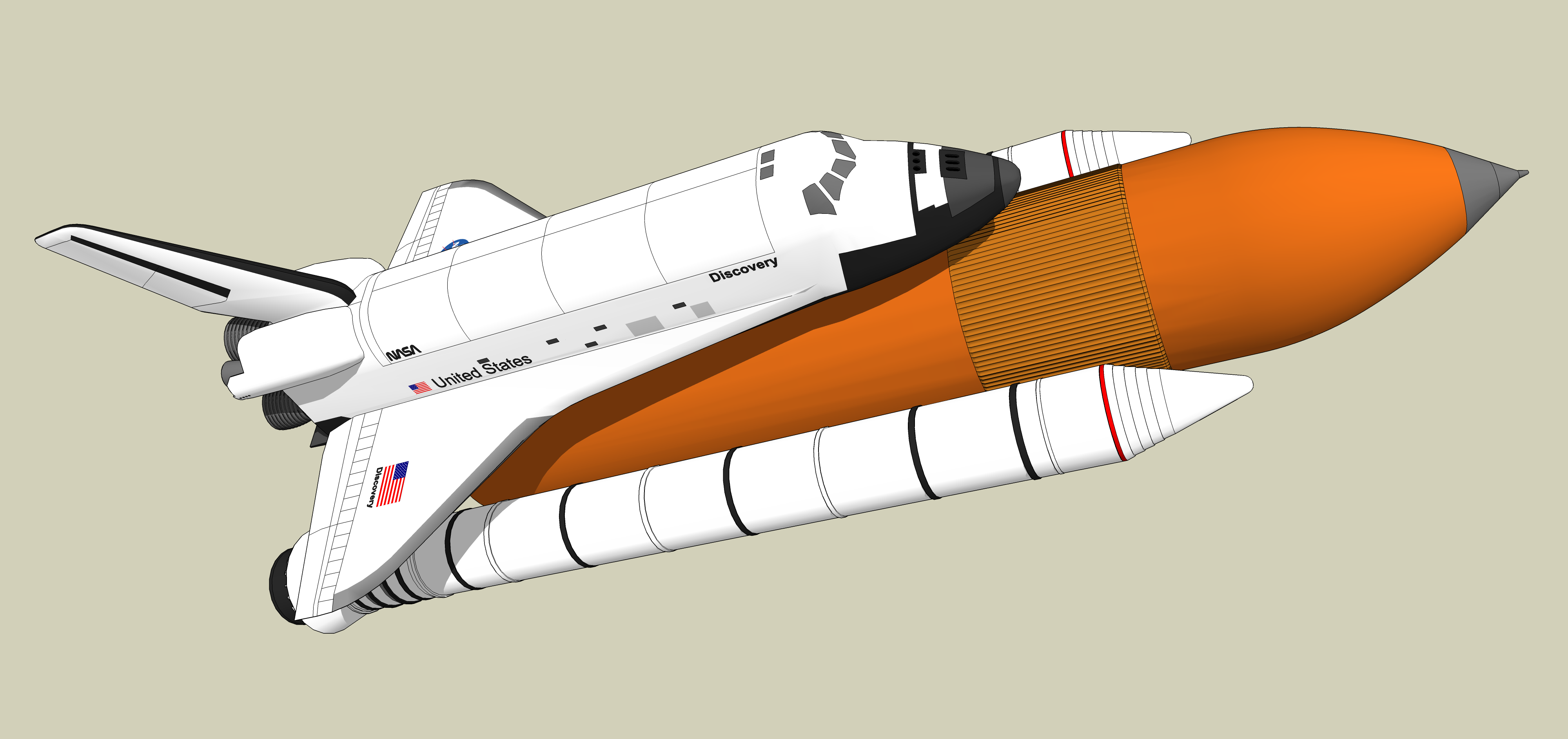 Animated space shuttle