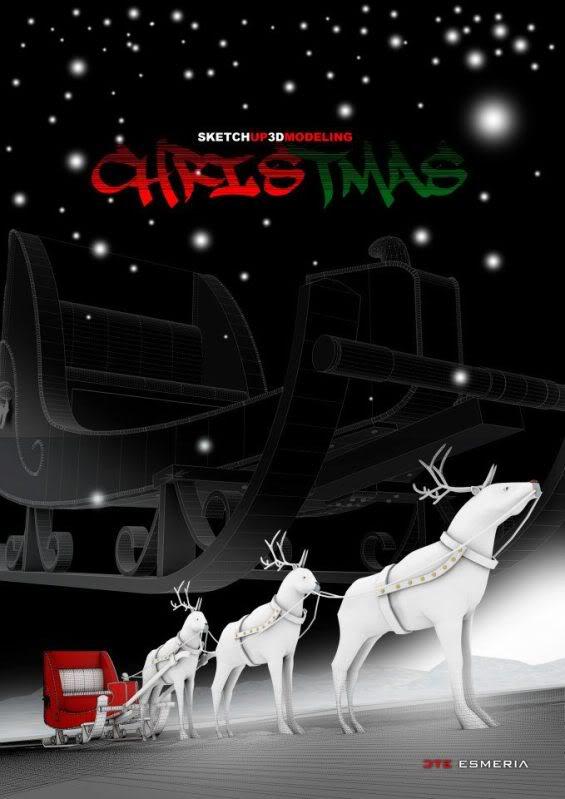 Sketchup Modeling Series 9 - Santa Sleigh