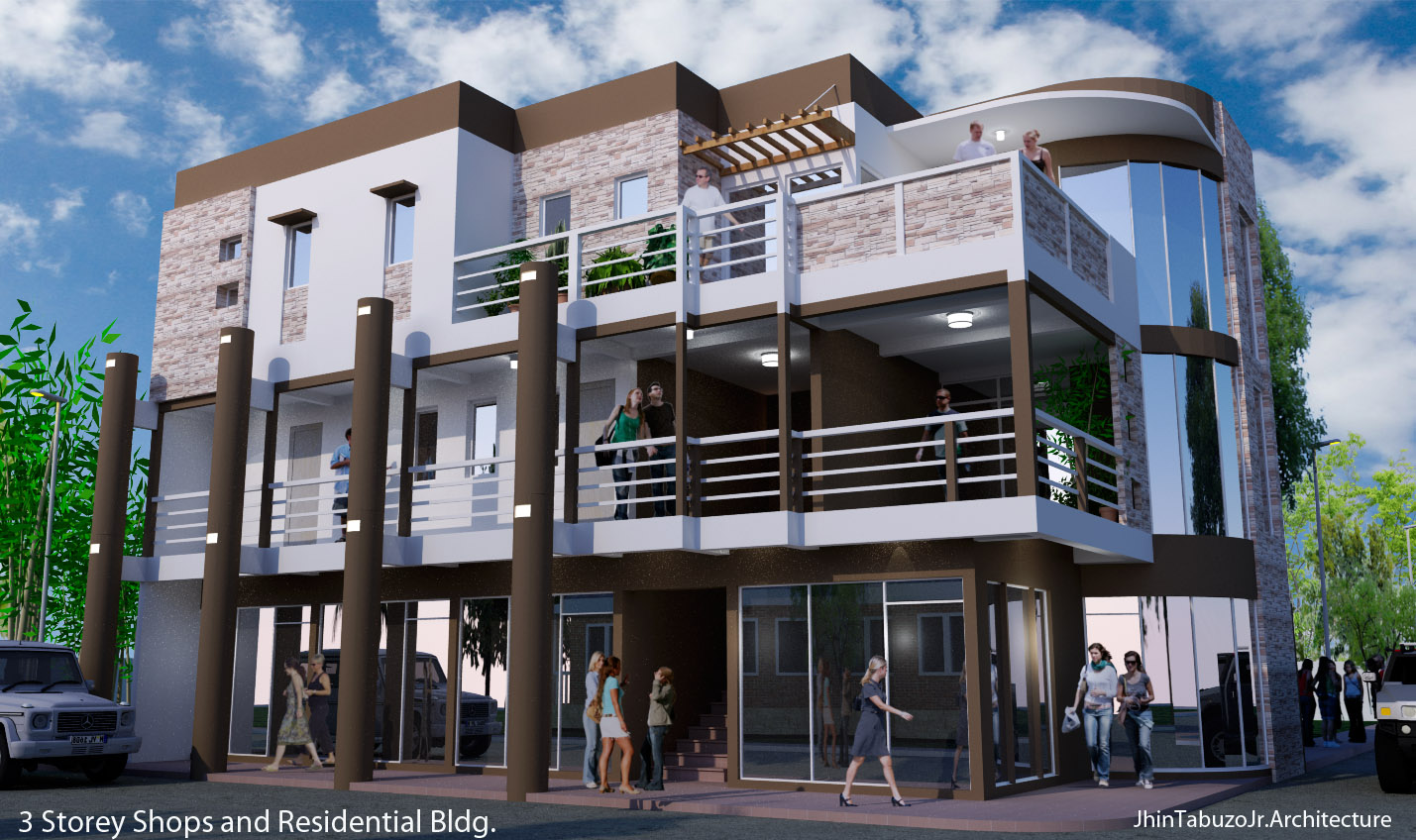3 storey commercial building joy studio design gallery for 3 storey building front elevation