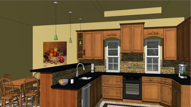 designing kitchens with sketchup - Sketchup Kitchen Design