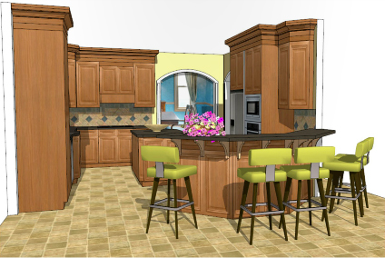 designing kitchens with sketchup by adriana granados - Sketchup Kitchen Design