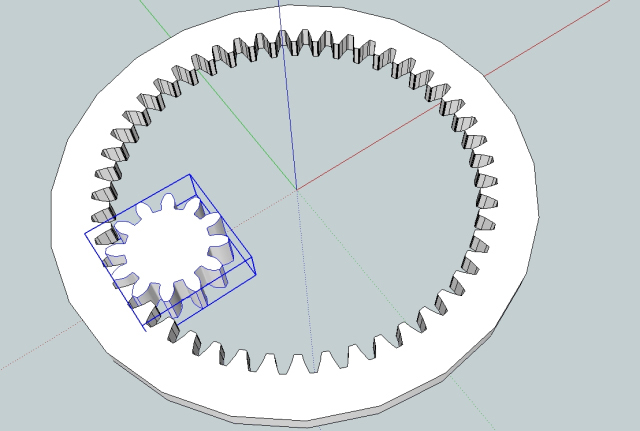 Drawing gears in Sketchup