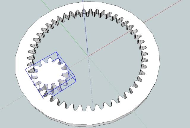 Drawing gears in Sketchup