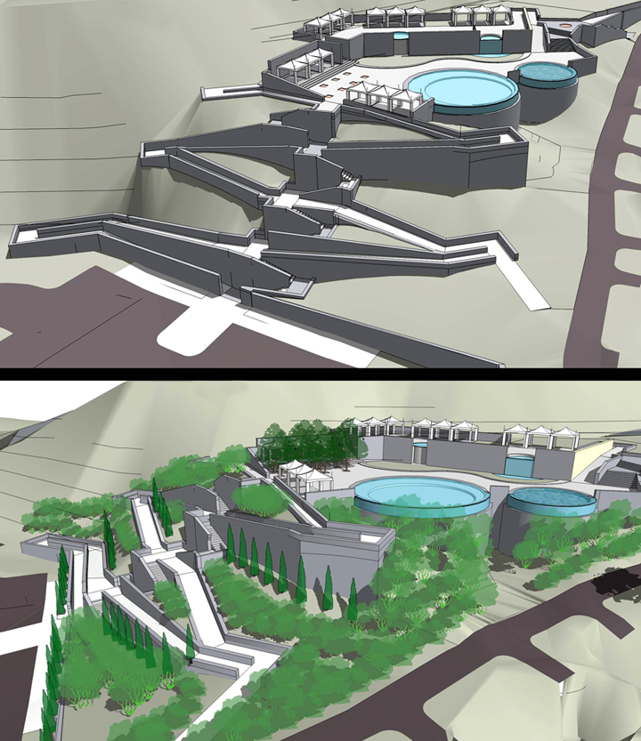 Elevation Plan Sketchup : Learning to model terrain in sketchup