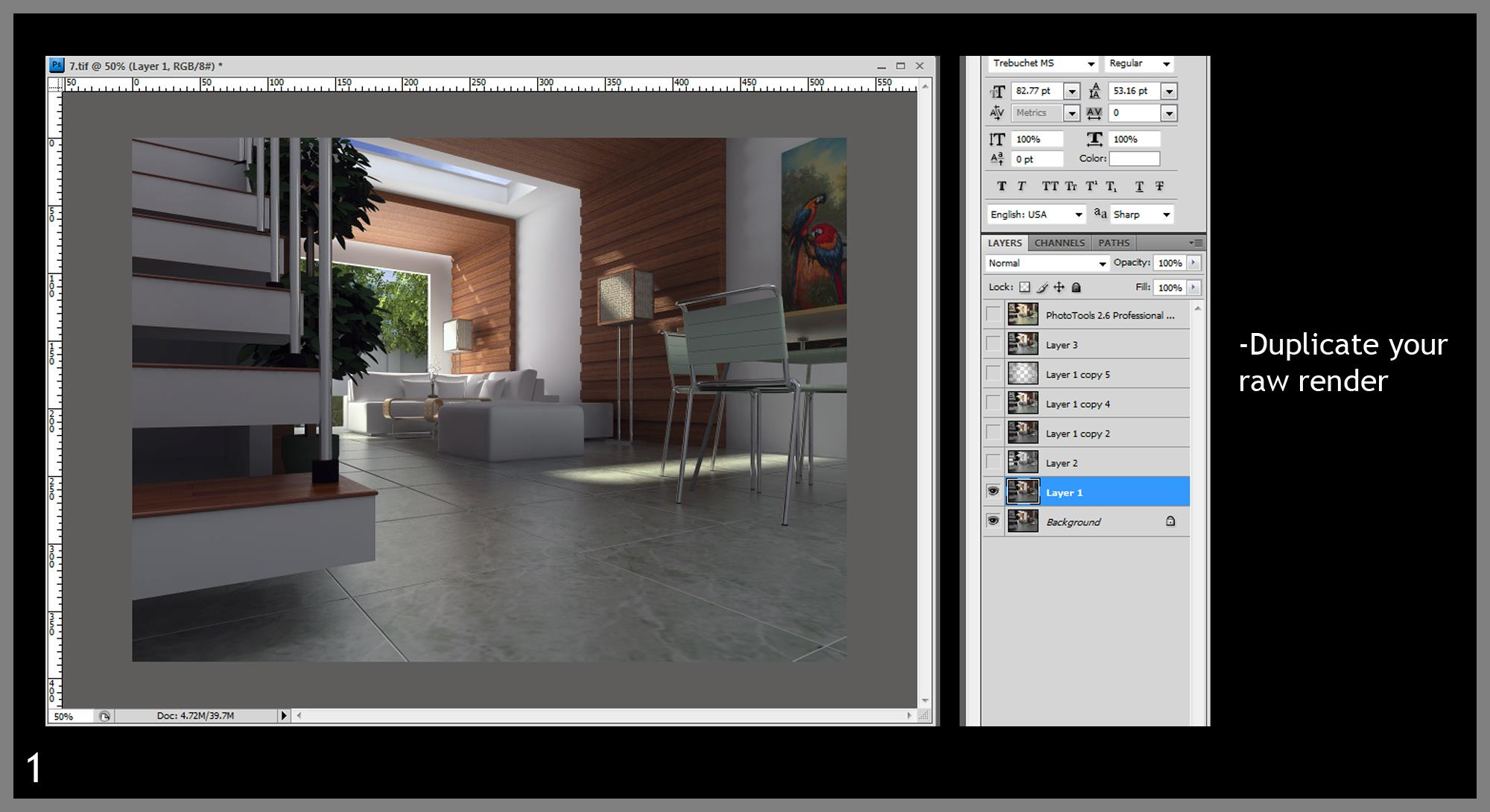 Post process tutorials render in sketchup and post process in post process tutorials render in sketchup and post process in photoshop baditri Images