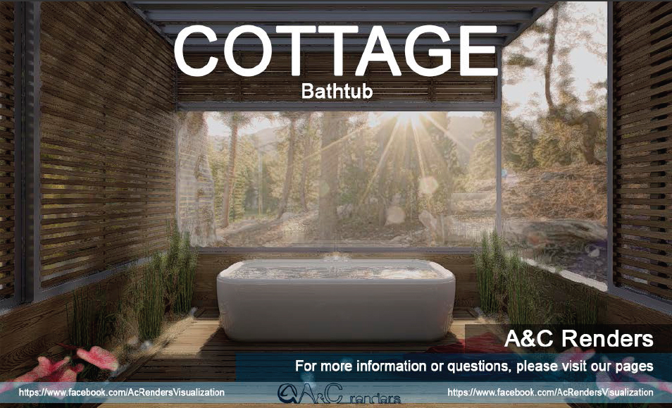Cottage Bathtub - Architectural Visualization