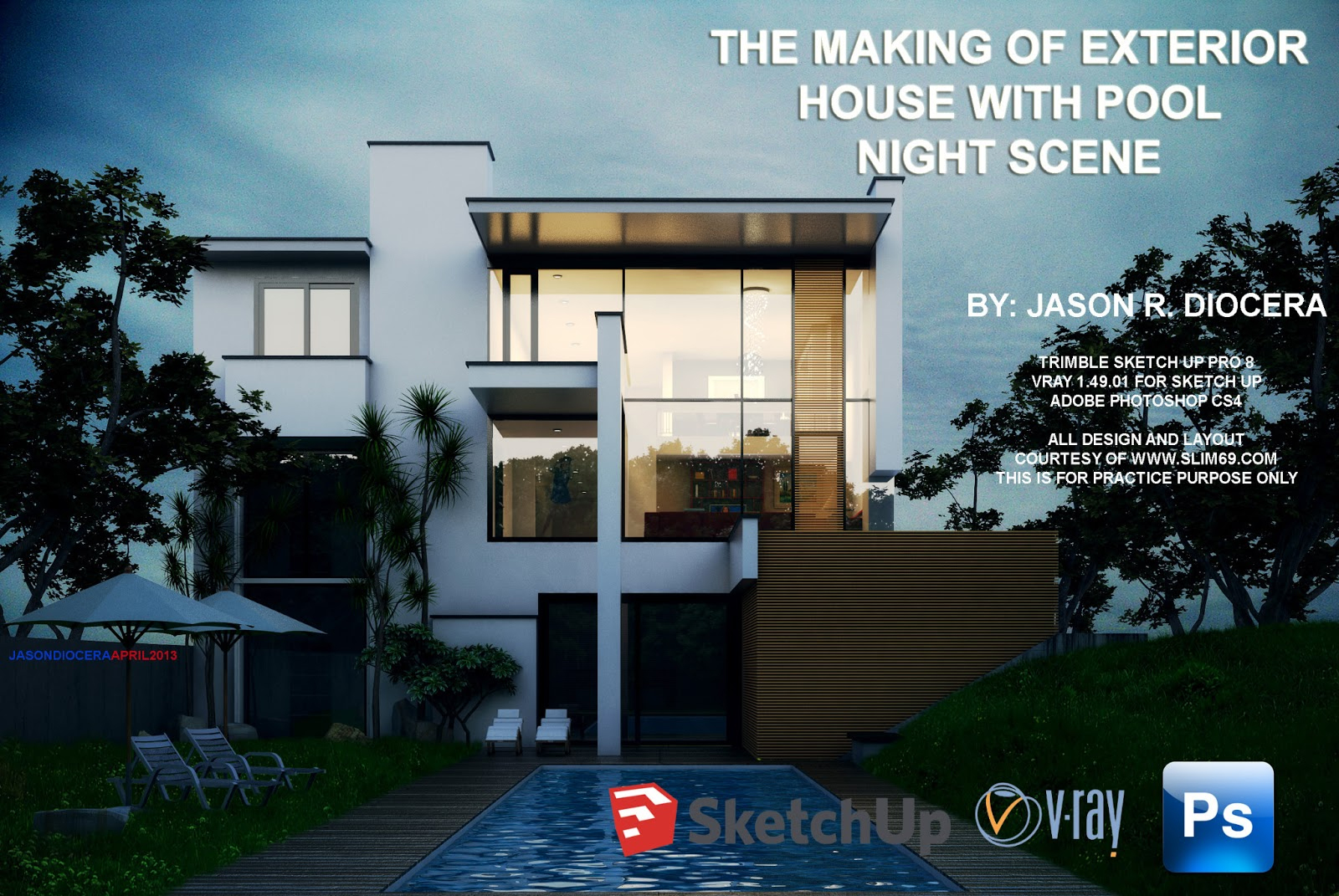Vray Tutorial Exterior Night Scene
