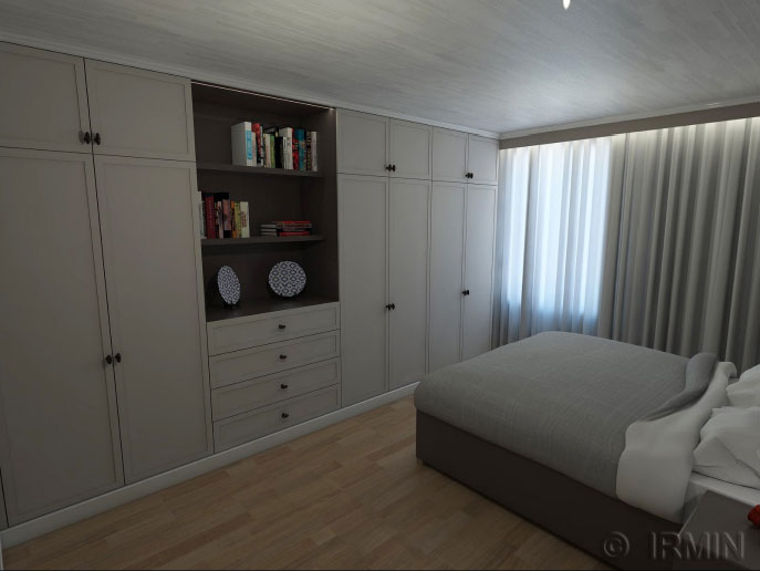 The Making of the bedroom with Sketchup