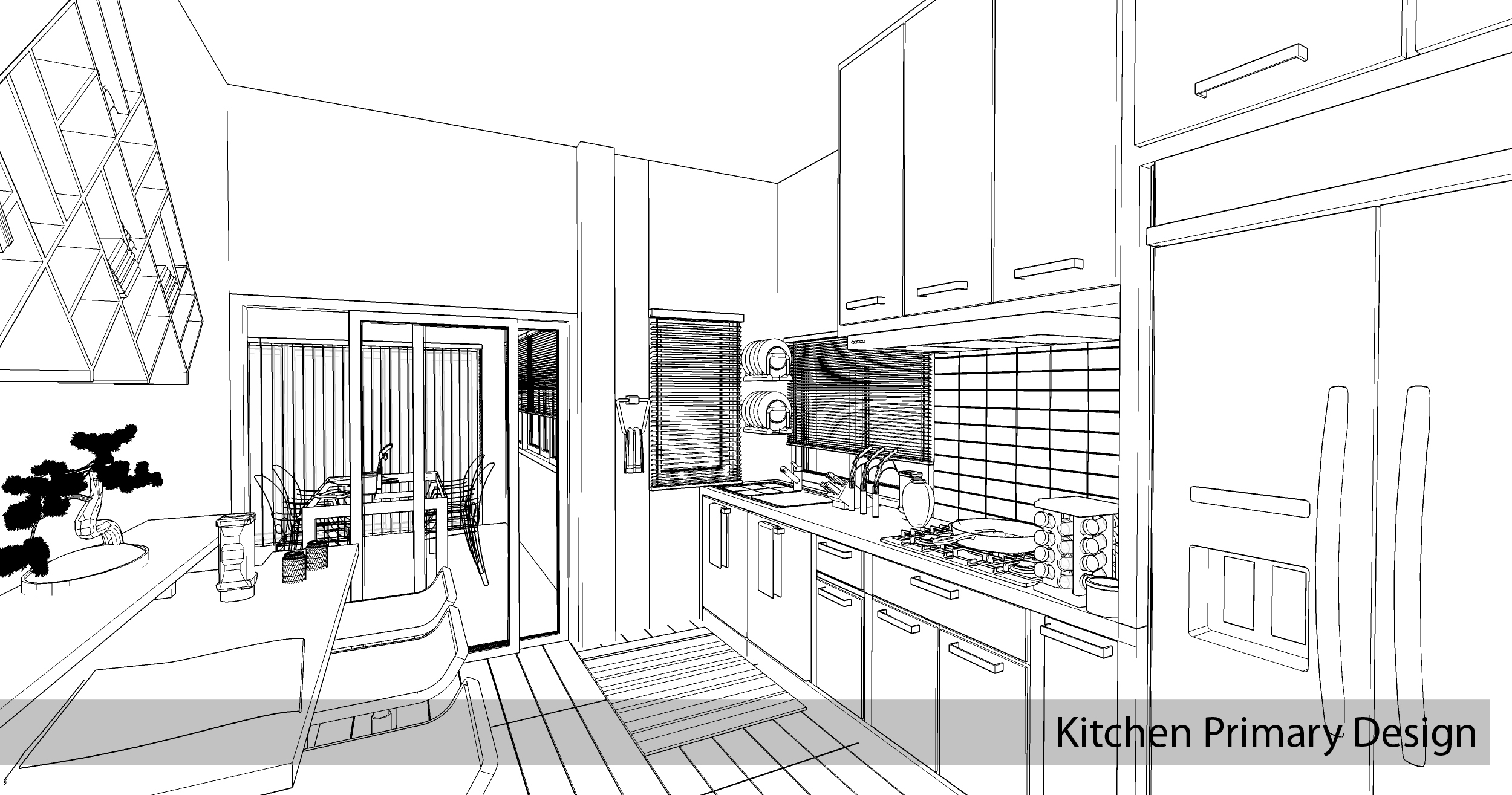 My story with sketchup for Kitchen design using sketchup