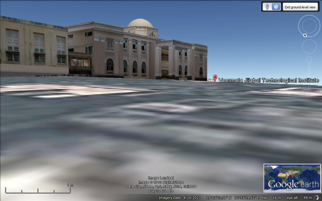 Discover VJTI on Google Earth