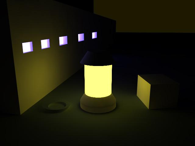 Night scene render with google sketchup