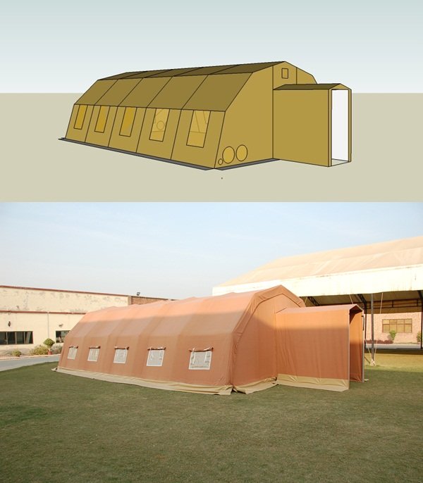 How to apply SketchUp for tent modelling