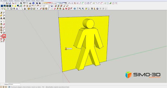 SketchUp tools : PUSH / PULL