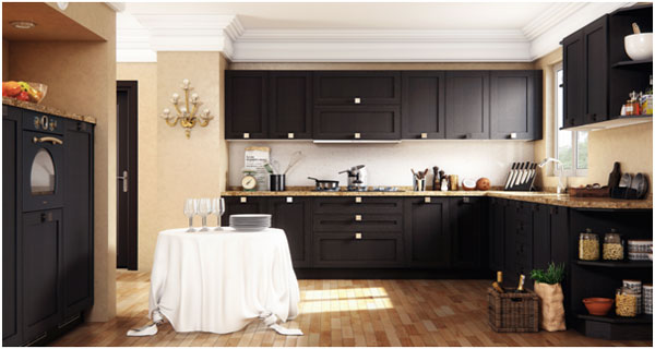 Kitchen rendering with Sketchup, 3dsMax+Vray & Photoshop
