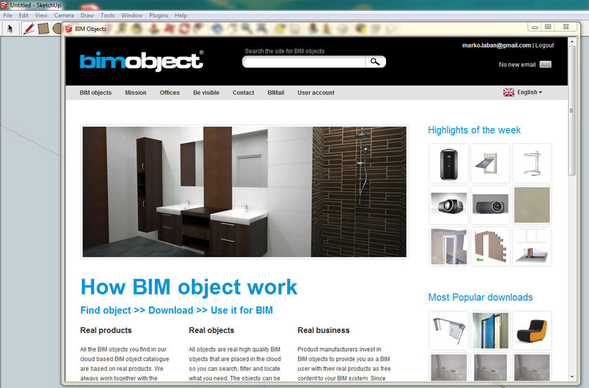 The introduction of BIMobject App for SketchUp