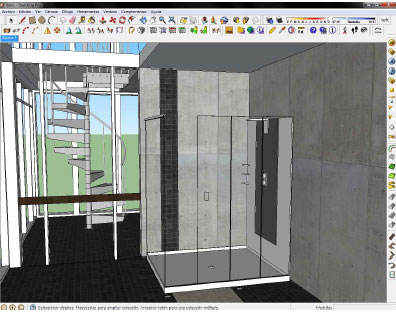 How to create the design of a bathroom with sketchup pro