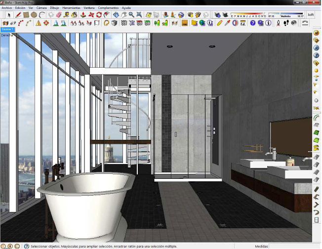 How to create the design of a bathroom with sketchup pro for Sketchup bathroom sink