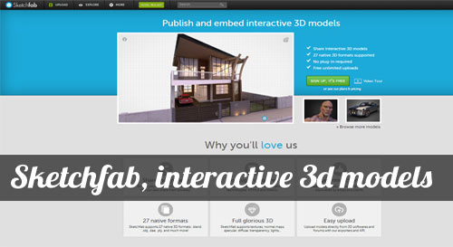 Sketchfab aims to become the global platform for sharing 3D models