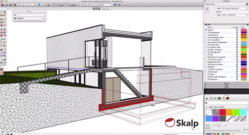 Skalp sections and patterns for Sketchup