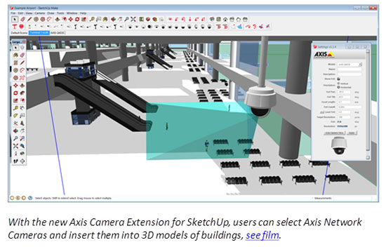 Axis introduces interactive camera visualization tool for sketchup 3D CAD software