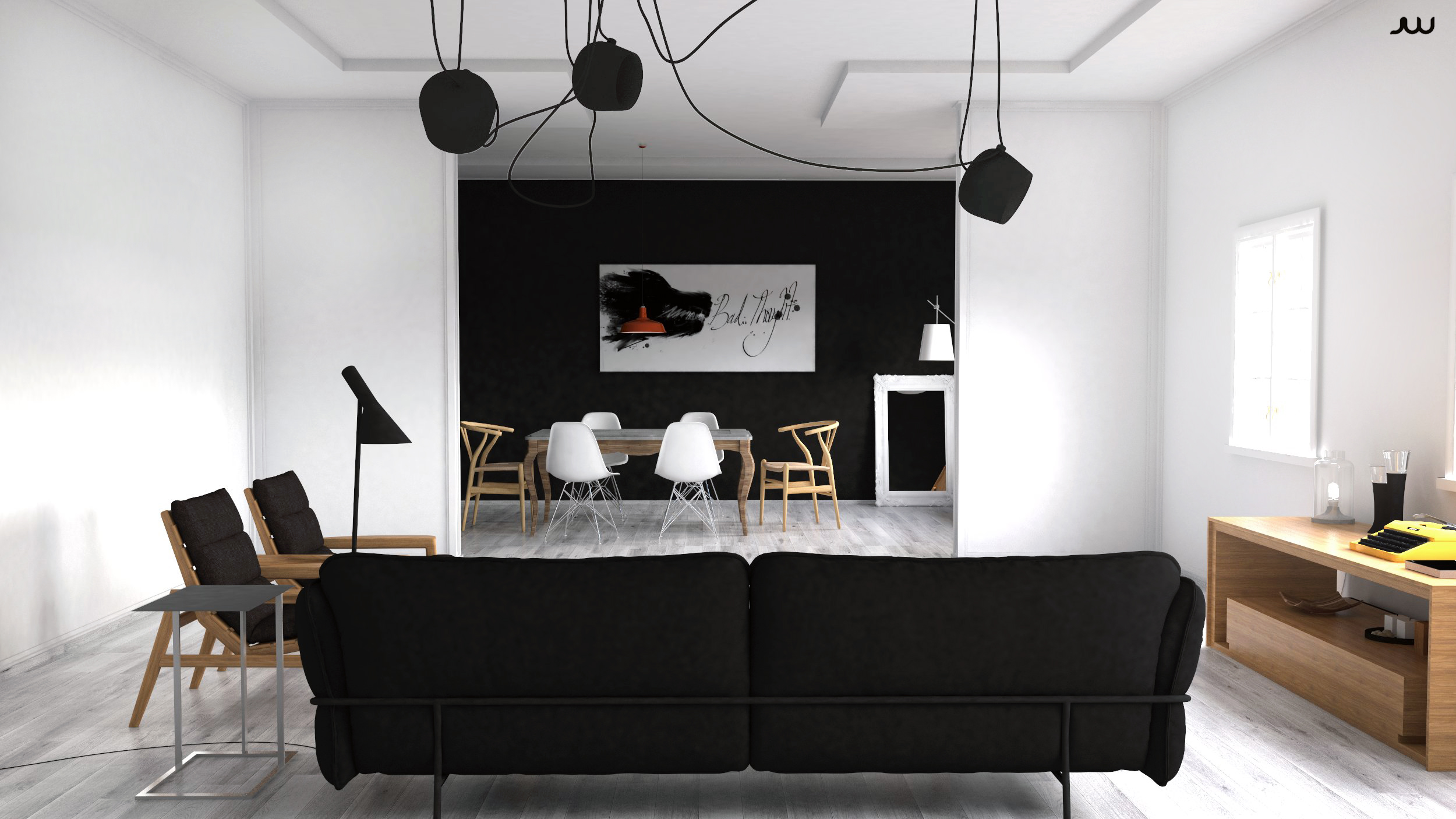 Making of scandinavian interior with Sketchup, Vray and