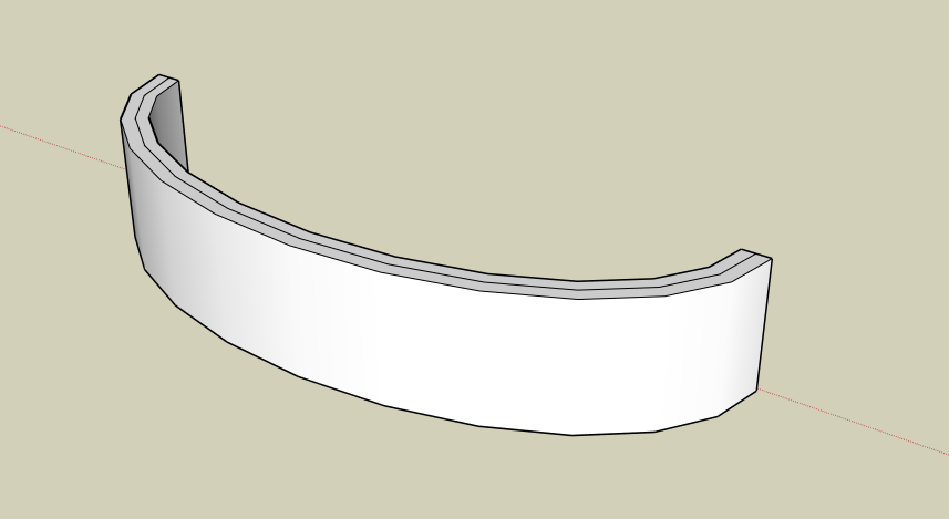 how to create a curved ramp on sketchup