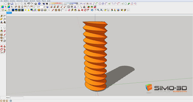 Creating a Screw with Sketchup
