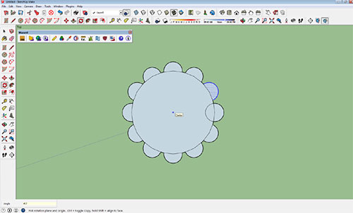 Creating Arrays in SketchUp