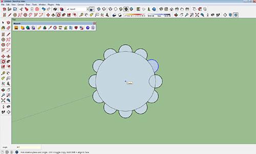 Creating Arrays in SketchUp