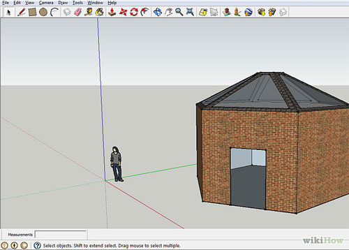How to create a Polygon Building using Sketchup