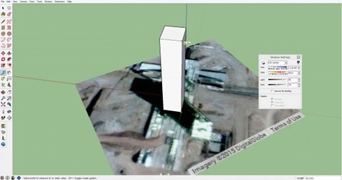Some useful tricks to calculate height of structure on Google Earth
