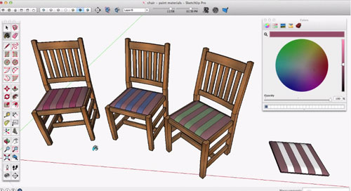 Learn to apply materials in sketchup through newly launched sketchup skill builder series videos