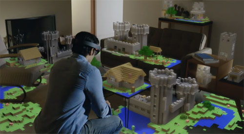 Integration between HoloLens holographic technology and sketchup