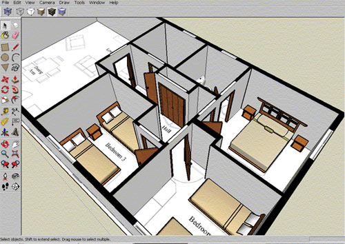 Draw floor plan with sketchup sketchup floor plan tutorial for Draw layout warehouse