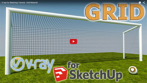 Learn to grid materials with v-ray for Sketchup