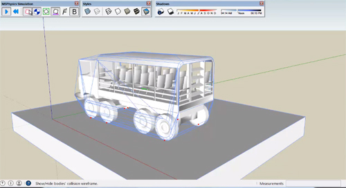 MSPhysics for sketchup