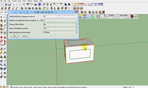 RoundCorner Version 3.1 for Sketchup