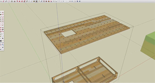 Some useful sketchup tips for solving a real-world problem in sketchup for a woodworking project