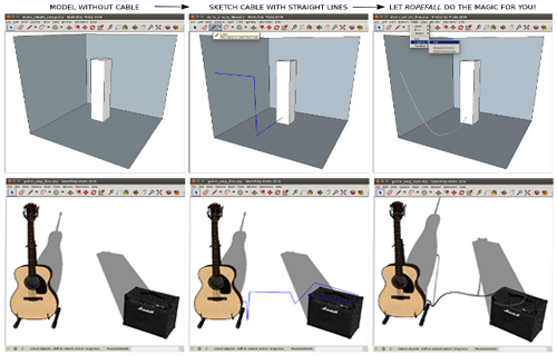 Ropefall for Sketchup – A newest sketchup extension