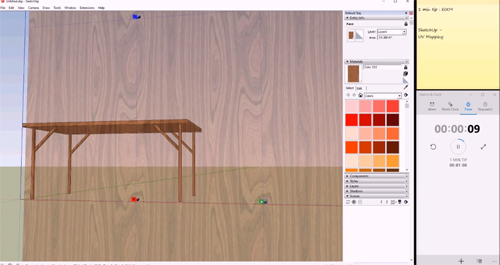 How to apply texture mapping (UV) in sktchup to design a table
