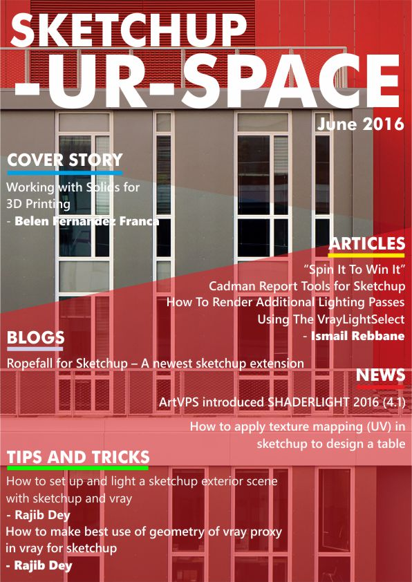 Sketchup-ur-space Magazine - June 2016