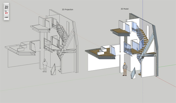 Skema 2d Projection for sketchup