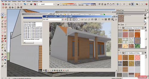 How to use Sketchup Pro 2016 for modeling a house & rendering with vray plugins