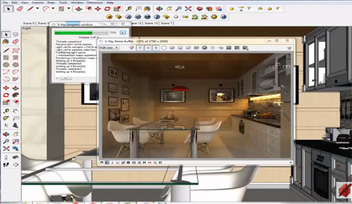 An exclusive video tutorial on sketchup vray interior lighting