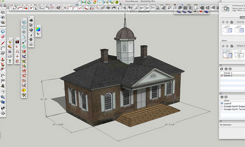 SketchUp Inferences Position the 3D Model Accurately