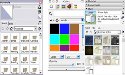 The Material Dialog Box in SketchUp