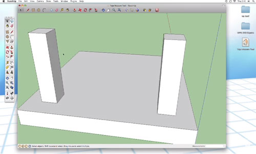 How to Use Tap Measure Tool in SketchUp
