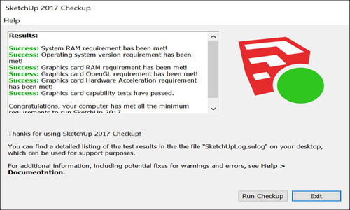 Checkup to Detect Errors for SketchUp2017