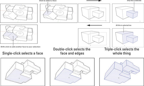 How to Select a Part of a Model in SketchUp